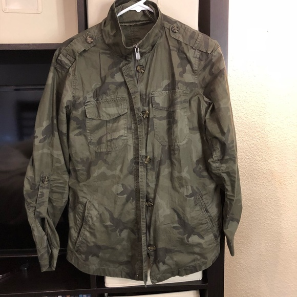 Buffalo David Bitton Women/'s Lightweight Military Jacket Army Green
